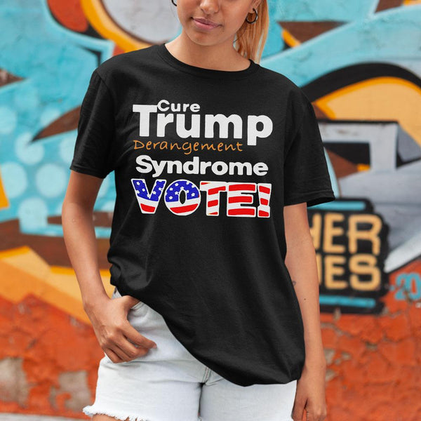 Cure Trump Derangement Syndrome Vote Usa Flag Shirt M By AllezyShirt