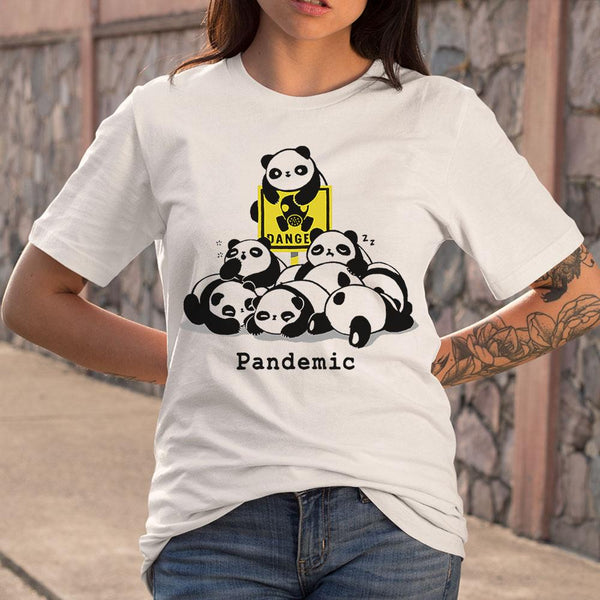 Cute Panda Pandemic T-shirt S By AllezyShirt