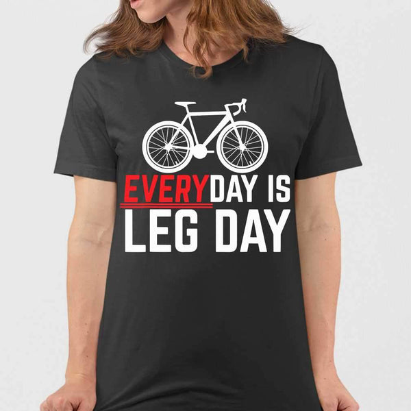 Cycling Everyday Is Leg Day T-shirt M By AllezyShirt
