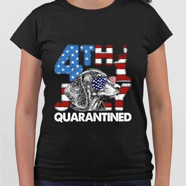 Dachshund 4Th Of July Merica Quarantined Gifts Funny T-shirt S By AllezyShirt