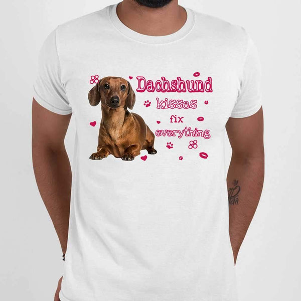 Dachshund Kisses Fix Everything T-shirt M By AllezyShirt