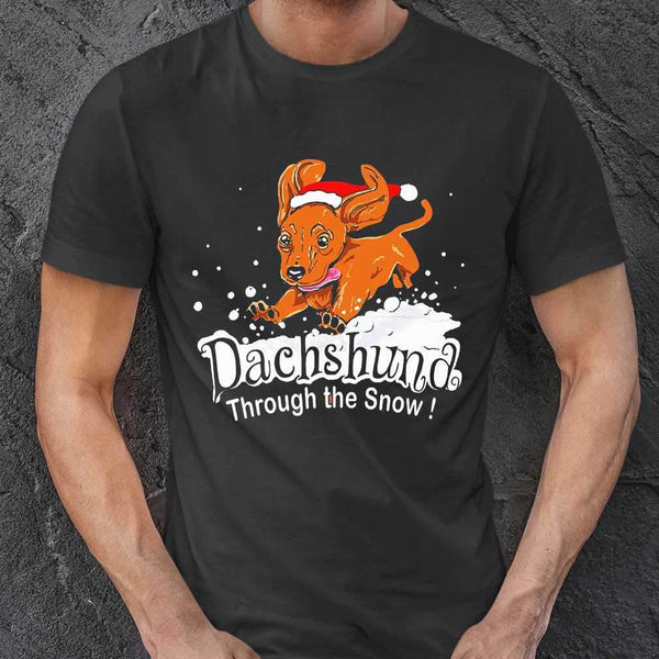Dachshund Through The Snow T-shirt S By AllezyShirt