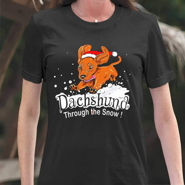 Dachshund Through The Snow T-shirt M By AllezyShirt