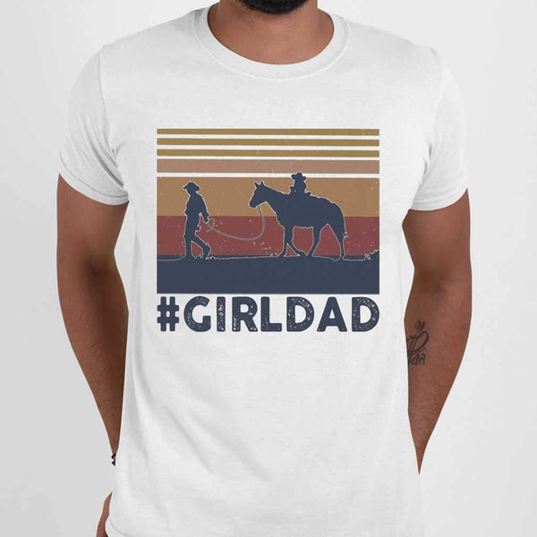 Dad And Daughter Horse Girl Dad Vintage T-shirt M By AllezyShirt