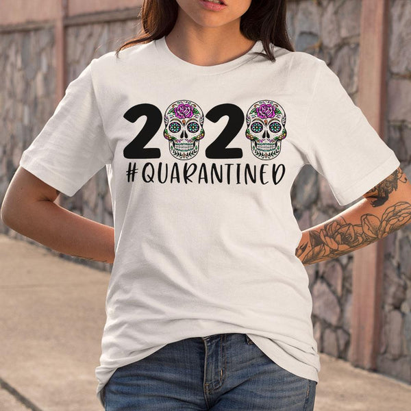 Day Of The Dead Skull 2020 Quarantined T-shirt M By AllezyShirt