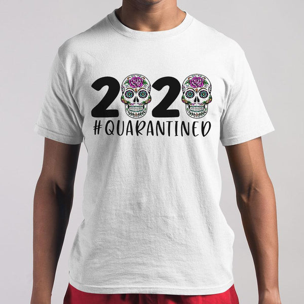 Day Of The Dead Skull 2020 Quarantined T-shirt S By AllezyShirt