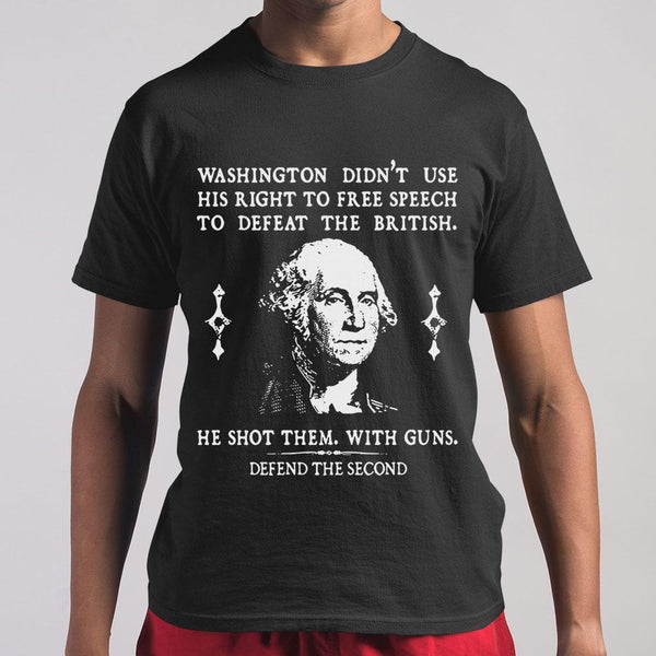 Defend The Second Washington T-shirt M By AllezyShirt