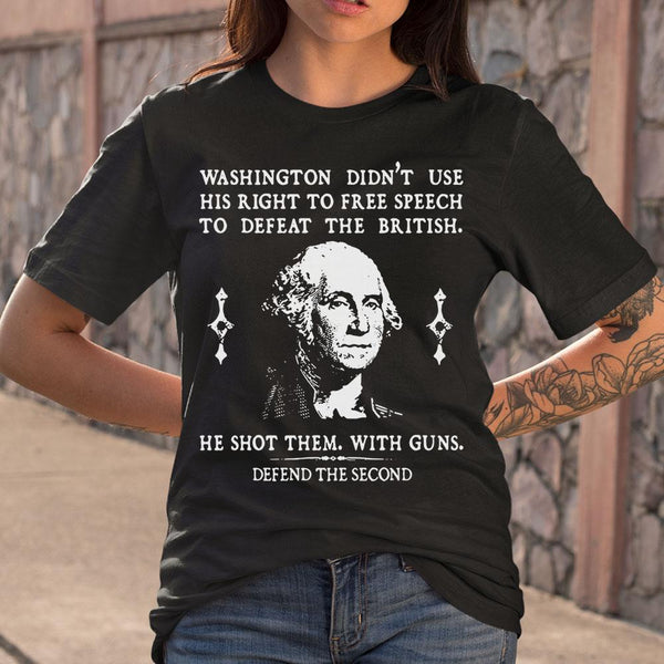 Defend The Second Washington T-shirt S By AllezyShirt