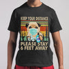 Dog Keep Your Distance Please Stay 6 Feet Away Vintage T-shirt M By AllezyShirt