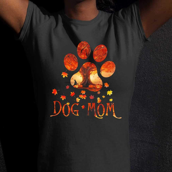 Dog Mom Leaf Autumn T-shirt S By AllezyShirt