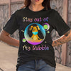 Dog Stay Out My Bubble Coronavirus Mask T-shirt S By AllezyShirt