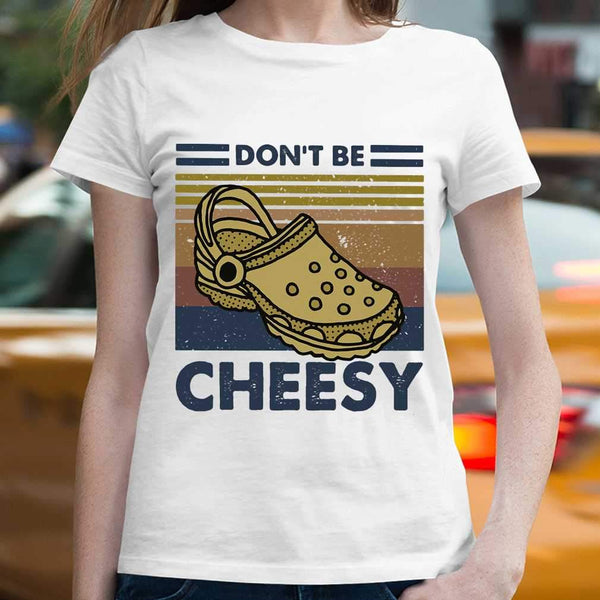 Don't Be Cheesy Crocs Vintage Retro T-shirt S By AllezyShirt