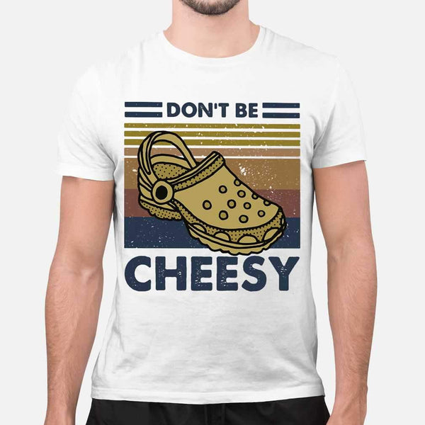 Don't Be Cheesy Crocs Vintage Retro T-shirt M By AllezyShirt