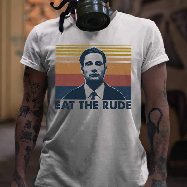 Eat The Rude Vintage Retro T-shirt S By AllezyShirt