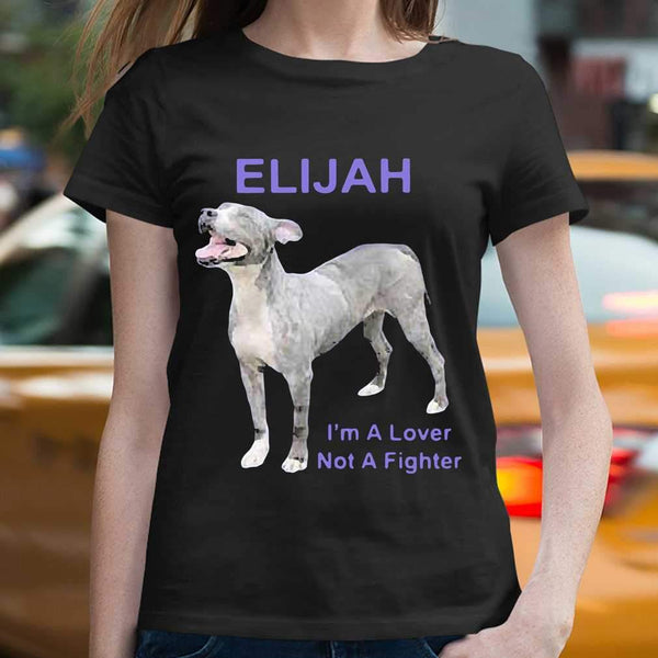 Elijah I'm A Lover Not A Fighter T-shirt S By AllezyShirt