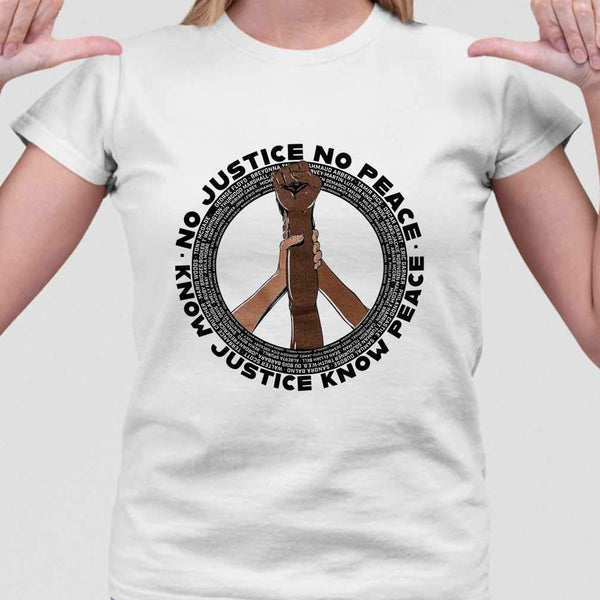 Etc Tacoma No Justice No Peace Know Justice Know Peace T-shirt M By AllezyShirt