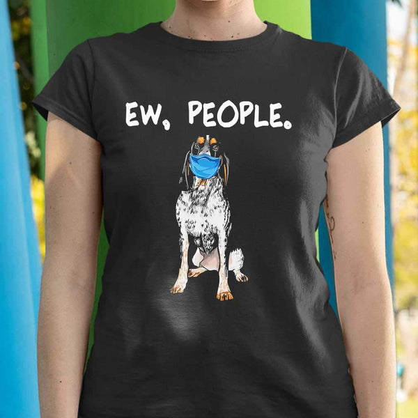 Face Mask Bluetick Coonhound Ew People Dog T-shirt S By AllezyShirt
