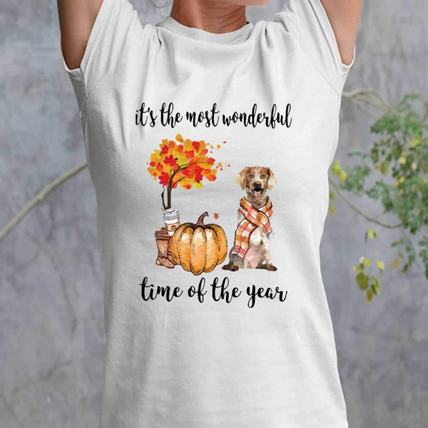 Fall Pumpkin It's The Most Wonderful Time Of The Year Brittany T-Shirt M By AllezyShirt