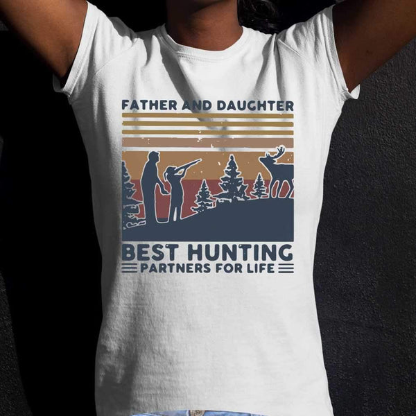 Father And Daughter Best Hunting Partnees For Life Vintage T-shirt S By AllezyShirt