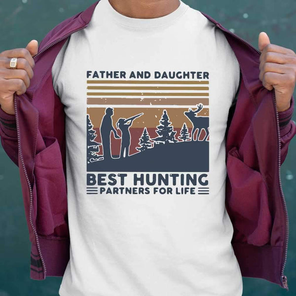 Father And Daughter Best Hunting Partnees For Life Vintage T-shirt M By AllezyShirt