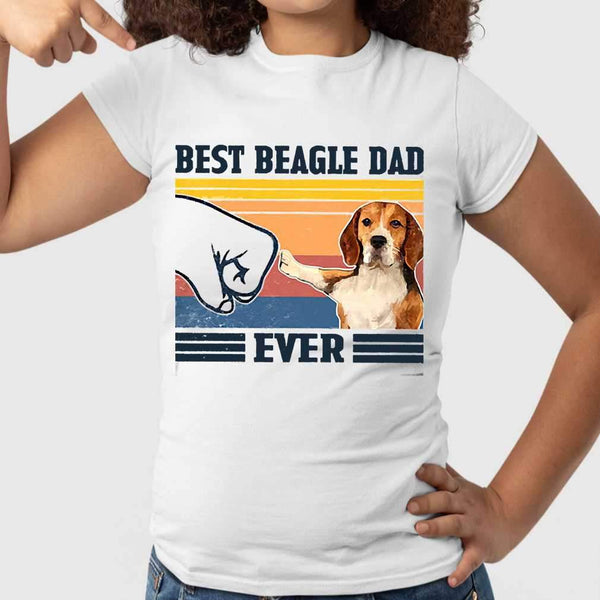 Father's Day Best Beagle Dad Ever Vintage T-shirt S By AllezyShirt