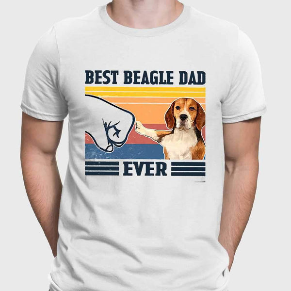 Father's Day Best Beagle Dad Ever Vintage T-shirt M By AllezyShirt