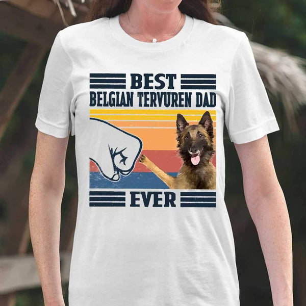 Father's Day Best Belgian Tervuren Dad Ever T-shirt S By AllezyShirt