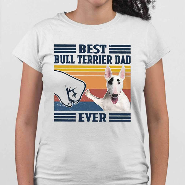 Father's Day Best Bull Terrier Dad Ever Vintage T-shirt M By AllezyShirt