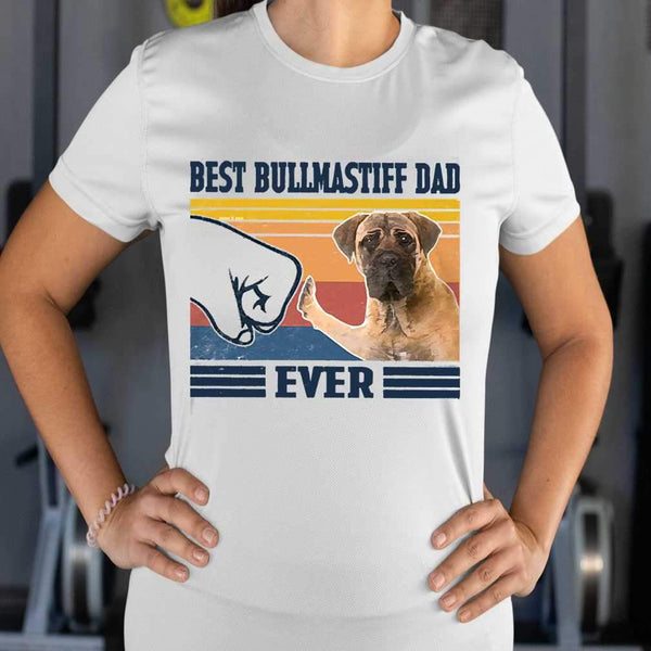 Father's Day Best Bullmastiff Dad Ever Vintage T-shirt S By AllezyShirt
