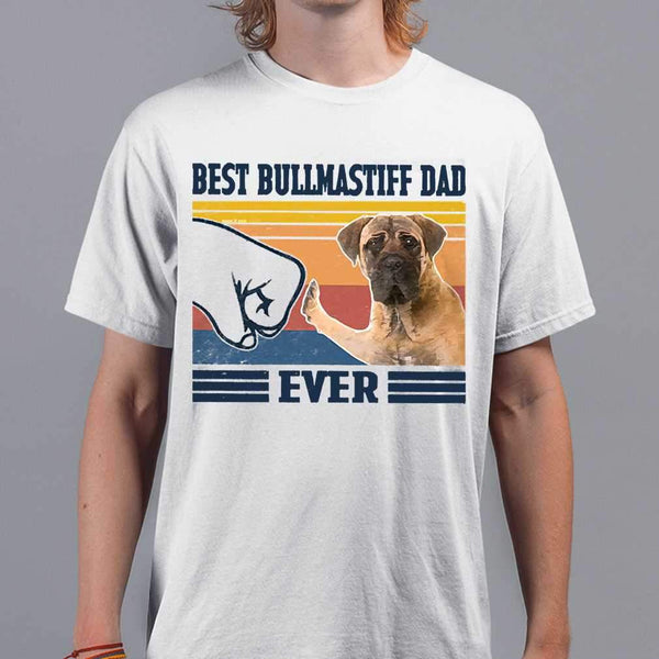 Father's Day Best Bullmastiff Dad Ever Vintage T-shirt M By AllezyShirt