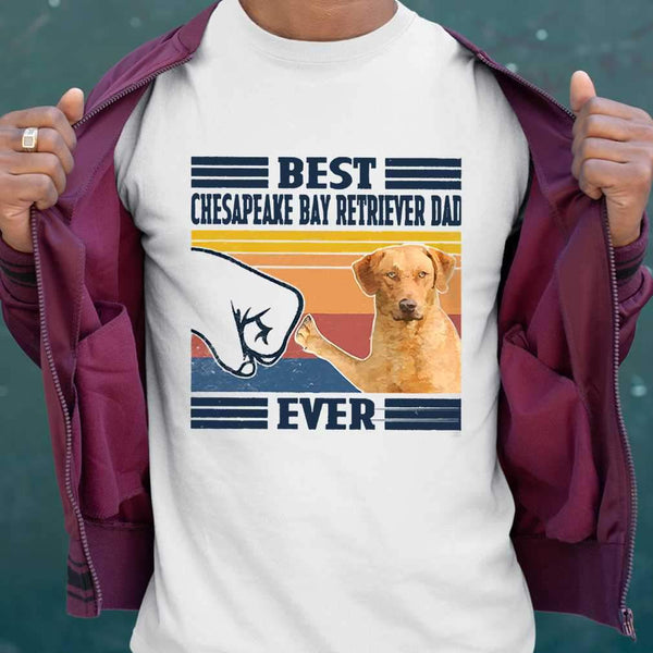 Father's Day Best Chesapeake Bay Retriever Dad Ever Vintage T-shirt S By AllezyShirt