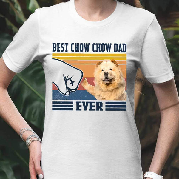 Father's Day Best Chow Chow Dad Ever T-shirt M By AllezyShirt