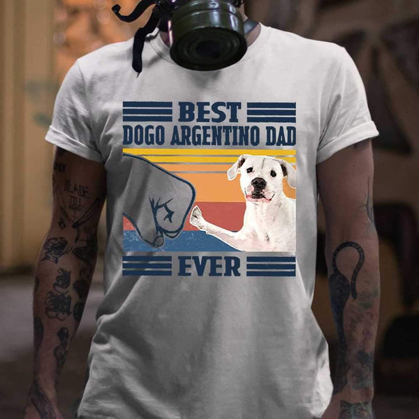 Father's Day Best Dogo Argentino Dad Ever Vintage T-shirt M By AllezyShirt