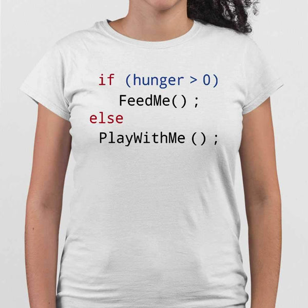 Feed Me Play With Me Programmer T-shirt M By AllezyShirt