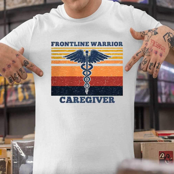 Frontline Warrior Caregiver Vintage Version T-shirt S By AllezyShirt