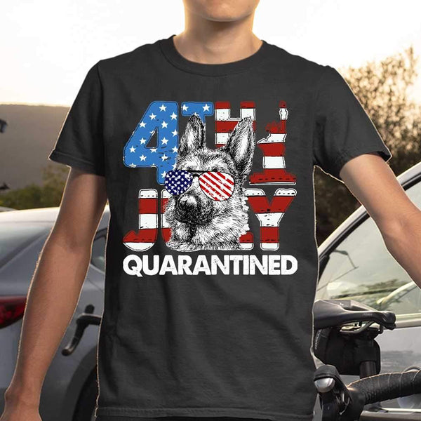 German Shepherd 4Th Of July Merica Quarantined Gifts Funny T-shirt S By AllezyShirt