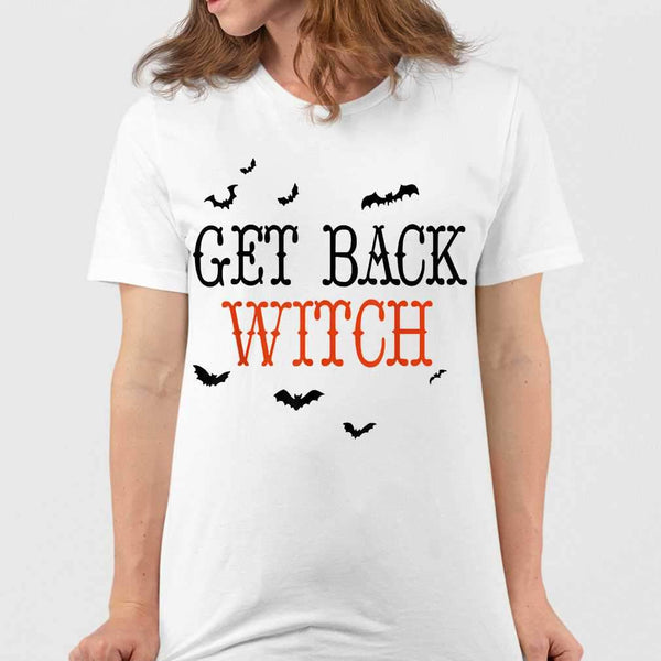 Get Back Witch Halloween Match Couple T-shirt M By AllezyShirt