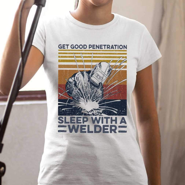 Get Good Penetration Sleep With A Welder Vintage T-shirt S By AllezyShirt