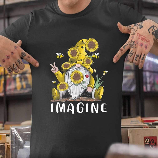 Gnome Sunflower Imagine T-shirt M By AllezyShirt