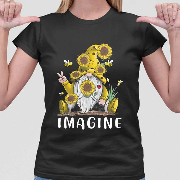 Gnome Sunflower Imagine T-shirt S By AllezyShirt
