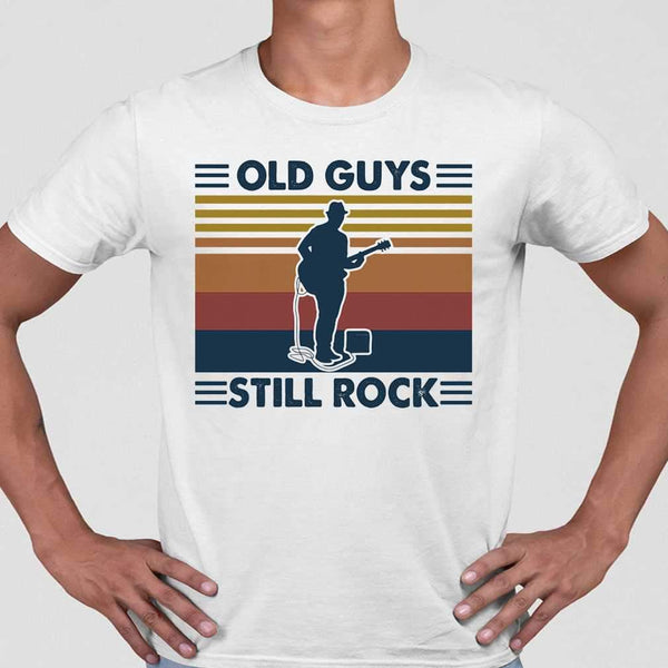 Guitar Old Guys Still Rock Vintage T-shirt S By AllezyShirt