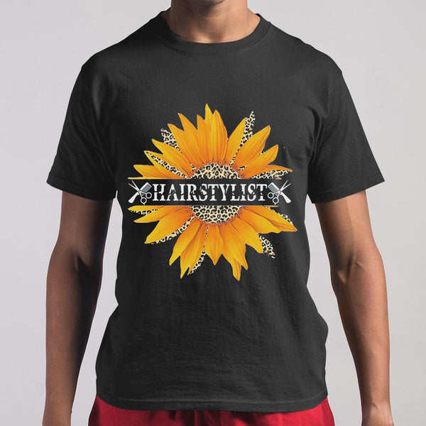 Hairstylist Love What You Do Sunflower Leopard M By AllezyShirt