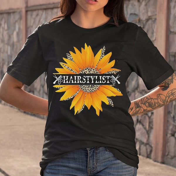Hairstylist Love What You Do Sunflower Leopard S By AllezyShirt
