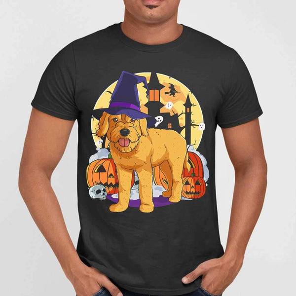 Halloween Goldendoodle Pumpkin Witch T-shirt M By AllezyShirt