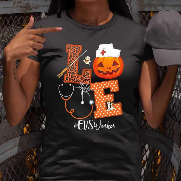 Halloween Pumpkin Love Evs Workers T-shirt S By AllezyShirt