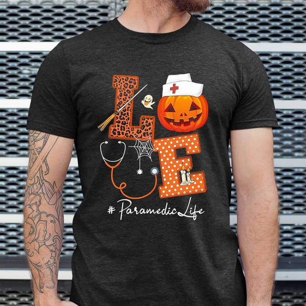 Halloween Pumpkin Love Parademic Life T-shirt S By AllezyShirt