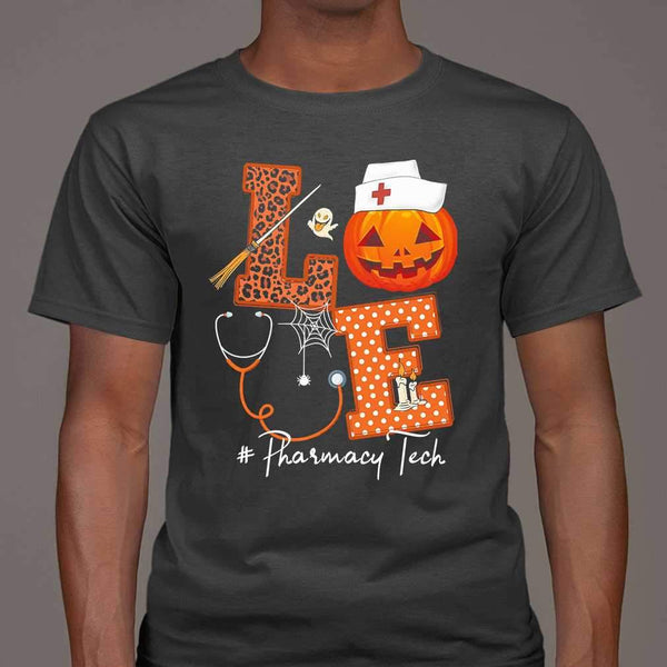 Halloween Pumpkin Love Pharmacy Tech T-shirt S By AllezyShirt