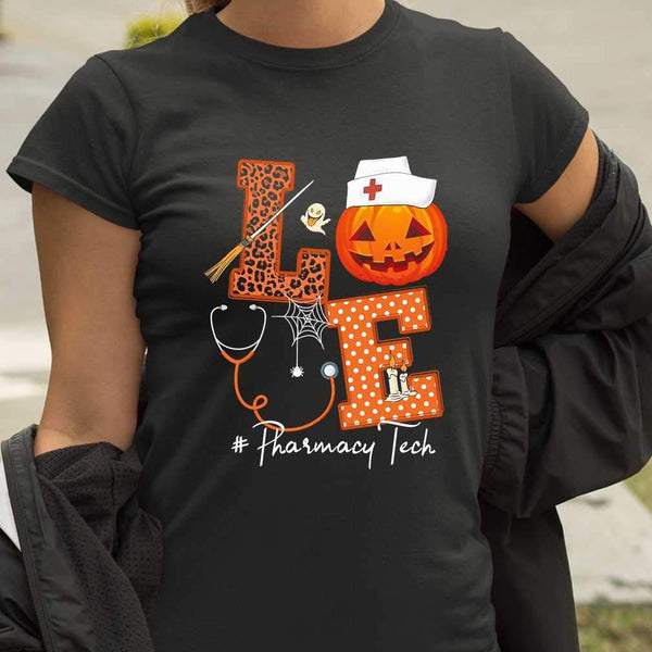 Halloween Pumpkin Love Pharmacy Tech T-shirt M By AllezyShirt