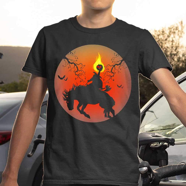 Headless Horseman Silhouette Halloween T-shirt S By AllezyShirt