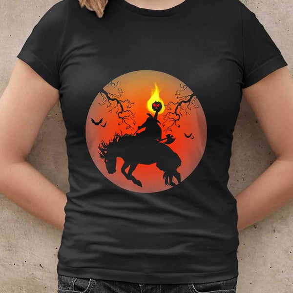 Headless Horseman Silhouette Halloween T-shirt M By AllezyShirt